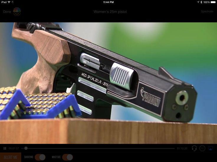 .22 Long rifle Olympic match pistol, 25 m