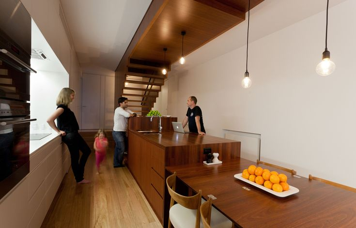 Jarrah-Block-House Love the integrated stair and timber ceiling