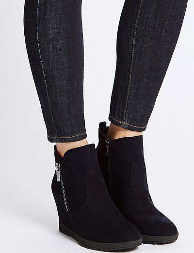 Wedge Heel Ankle Boots | Marks & Spencer London