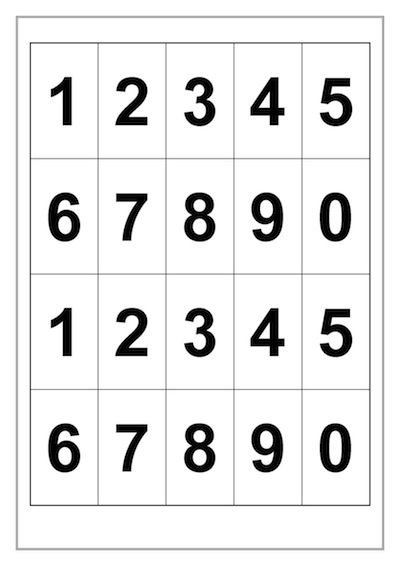 Math – Alphabet and Numbers Template