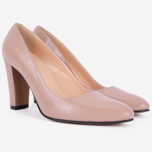 Pantofi nude din piele naturala Serena