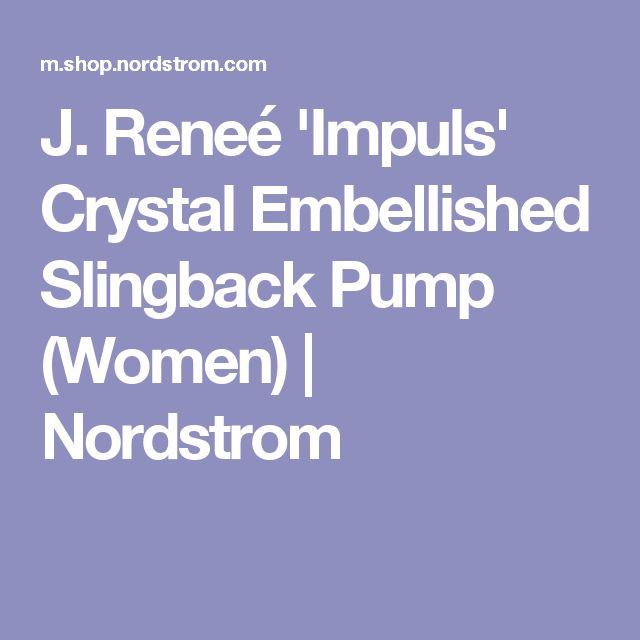 J. Reneé 'Impuls' Crystal Embellished Slingback Pump (Women) | Nordstrom
