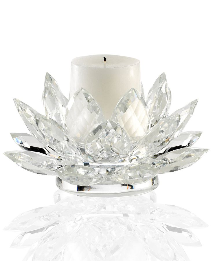 Lighting by Design Candle Holder, Lotus Pillar Holder with Candle - Candles & Home Fragrance - For The Home - Macy's
