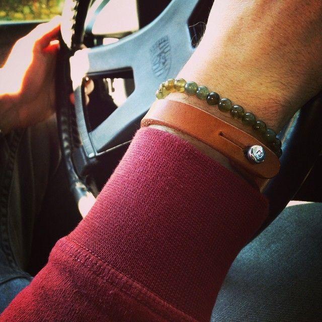 www.877workshop.com — Men's bracelet saddle tan leather