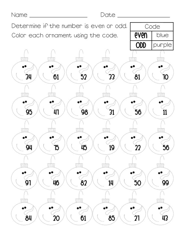 Even amp odd numbers math worksheet