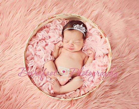 Baby Headband Baby Tiara Pink Tiara by TheFairyFactoryShop on Etsy, $8.95