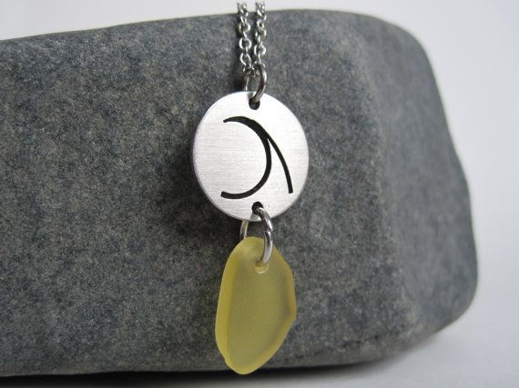 Beach Combing Necklace  Stainless Steel by Eighty8Eighty9 on Etsy