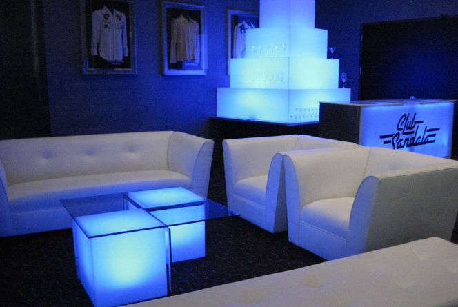 Nightclub Furniture installation at famous bar