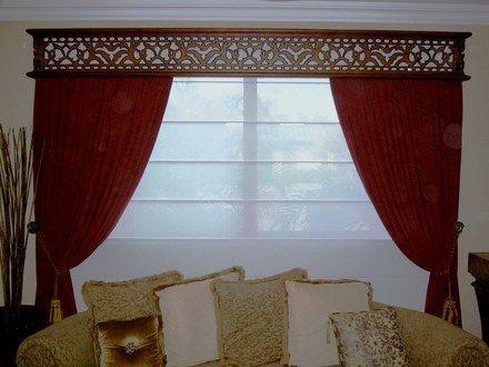 Cenefas de maderas para cortinas imagui living pinterest for Cenefas para cortinas