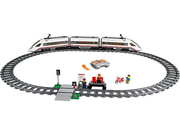 Get around LEGO® City fast in the High-speed Passenger Train!