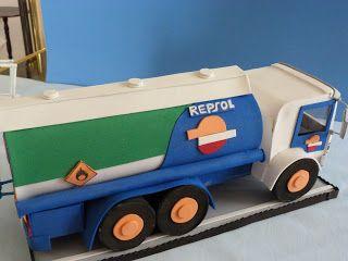 FOFUCHAS. Manualidades y Creaciones Maite: Camion en goma eva cisterna Repsol