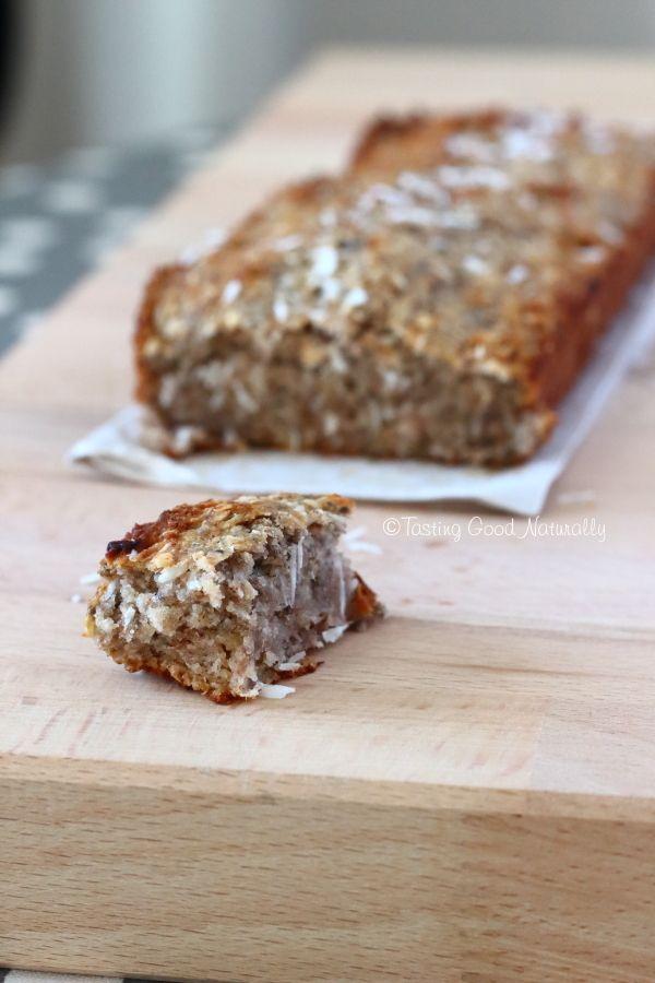 Tasting Good Naturally : Cake à la banane et à la noix de coco sans gluten et vegan