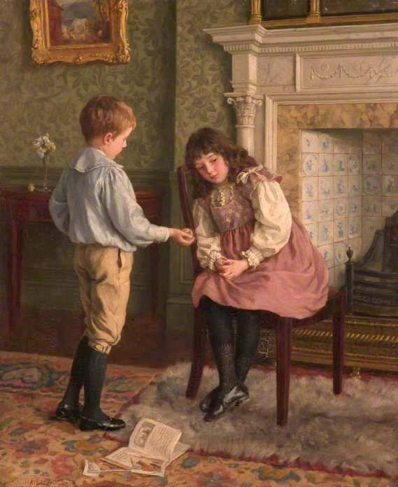 Haigh-Wood, Charles (b,1854)- Peace Offering, c 1885