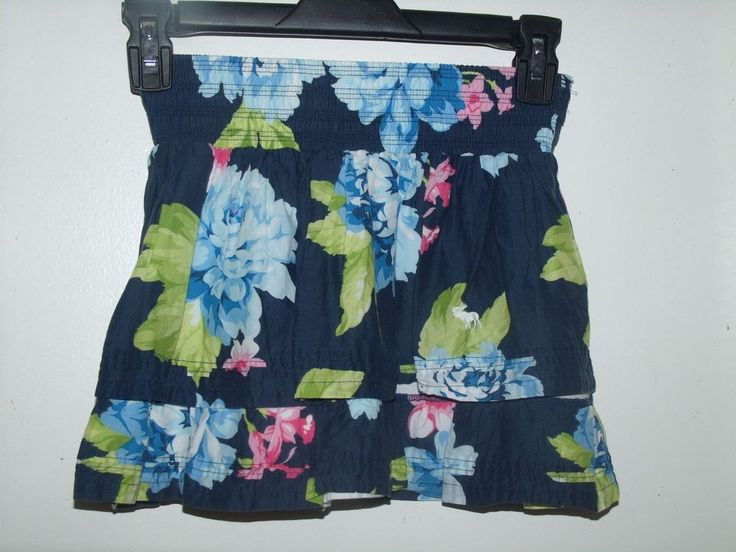Abercrombie Girls Floral Tiered Lined Skirt M Medium #abercrombie