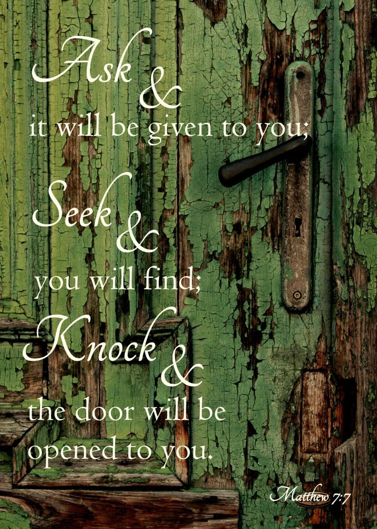 Ask & it will be given to you: seek & you will find: knock & the door will be opened to you.. Close the door.. Welcome home to your soulmate!!!