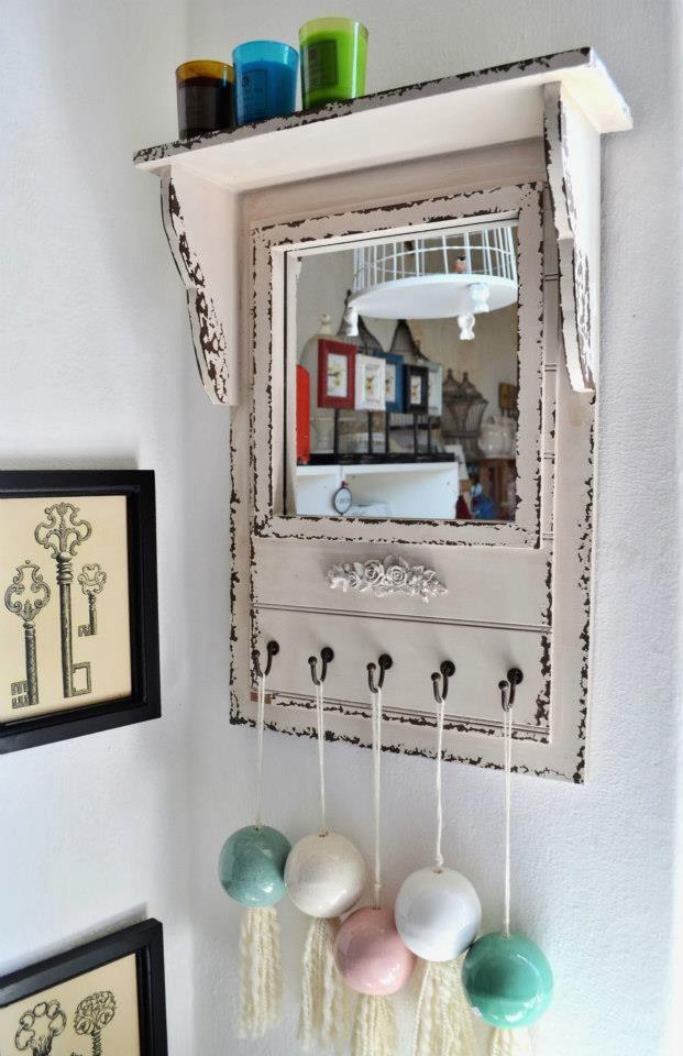 Espejo decapado con marco vintage decoracion pinterest for Marco espejo vintage