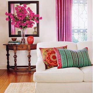 On instagram by chicsusyq #homedesign #contratahotel (o) http://ift.tt/1RznwAx necesito mucho color vida alegría ánimos ...  Lovely schema color!  #inspiration #interiordesign #decor #decoration #livingroom #interiors #nicecolors #lighthouse #instagood #decoraçao #decoración #homedecor #house #rooms  #colorful #fucsia #fullcolor decor #interieurdesign From amberinteriordesign.blogspot.com