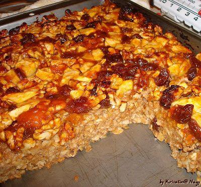 Kriszta konyhája- Sütni,főzni bárki tud!: Zabpelyhes -almás karácsonyi lepény