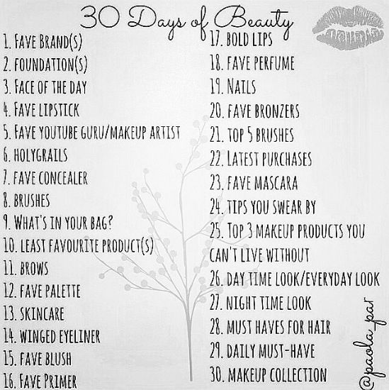 30 Days Of Beauty Challenge 30 Day Beauty Challenge Pinterest