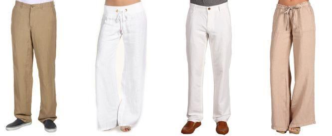 Модели льняные штаны