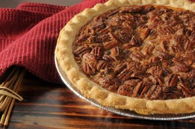 Best Pecan Pie. Best Pecan Pie Recipe:  3 eggs, slightly beaten, 1 cup corn syrup,  1 cup sugar, 2 tablespoons butter, melted  1 tsp. vanilla, 1 1/2 cups pecans, 1 (9-inch) unbaked pie shell. Pour ingredients into shell and bake at 350°F. for 50-55 minutes, or until tests done.
