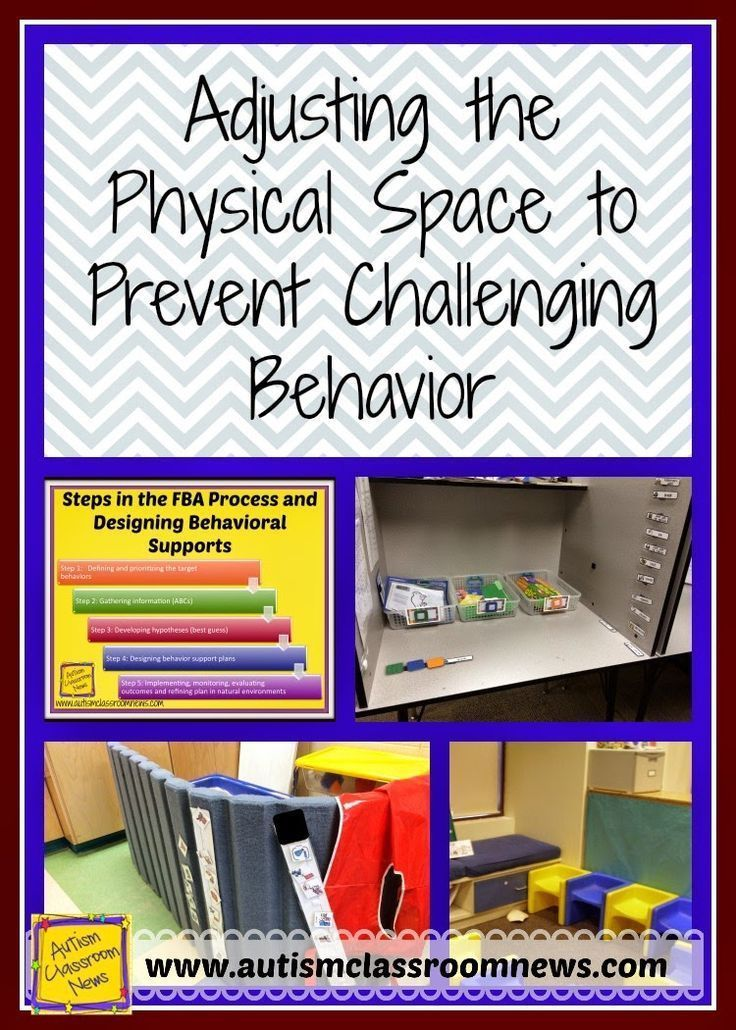 Sometimes we can prevent challenging behavior by tweaking the physical classroom environment.  Providing visuals, rearranging furniture or just the way the classroom is set up can help prevent challenging behavior and are useful tools in positive behavior