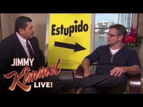 Guillermo Crashes Matt Damon Interview - YouTube