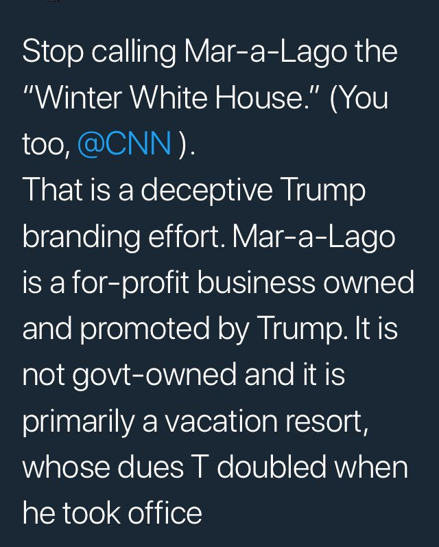 Clearly a violation of the emoluments clause. Clearly an impeachable offense (one of many). But corrupt Republicans look the other way and sell our country, making millions in the process.
