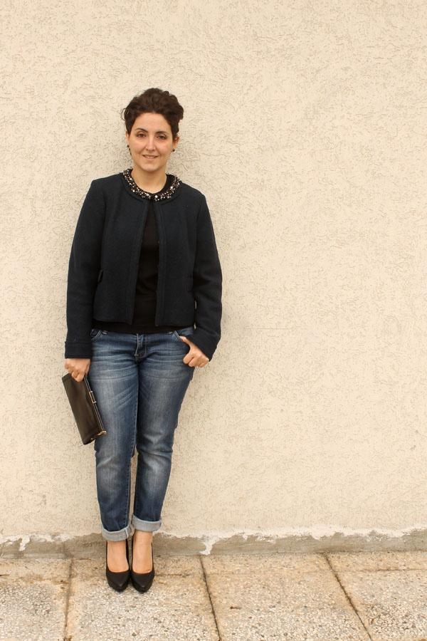 curvy blogger forme Elena Mirò jacket chic casual