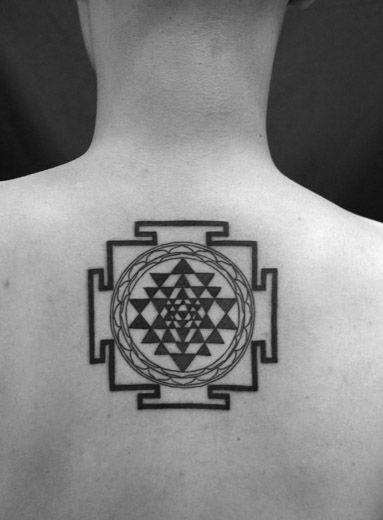 Punctured Artefact Custom & Flash Tattoo design Symbolic geometric Yantra