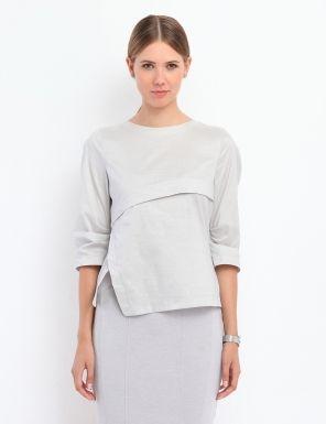 Bluza asimetrica - Gri SBD0508SZ