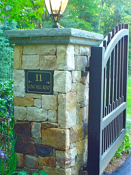 Stone Entrance Pillars : Best images about driveway pillars on pinterest entry
