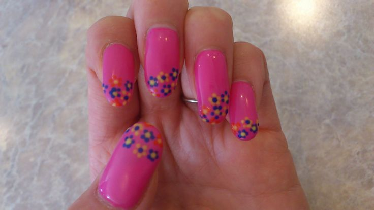spring flower nail