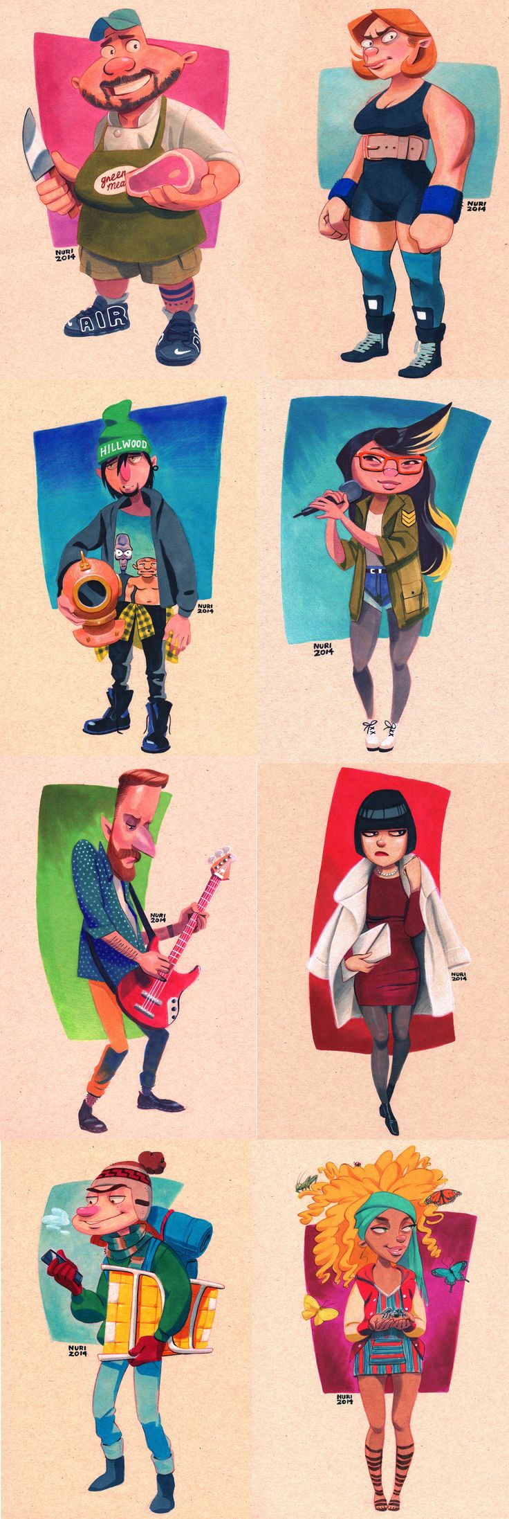 Artist Nuri Durr is giving Hey Arnold! a revival with drawings depicting the characters as 20-somethings.