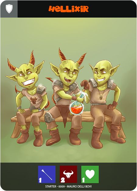 www.bumblings.net Hellixir. Preview from Brood starter pack. #fantasy #funny #boardgamegeek #boardgame #cardgame