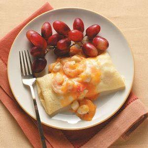 Seafood Crepes Bearnaise Recipe