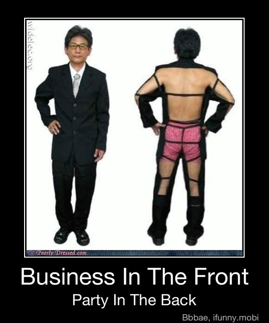 Introducing the Mullet suit...