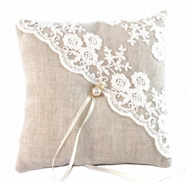Ring pillow - linen