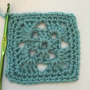 Simple Four Round Crochet Square Free Pattern