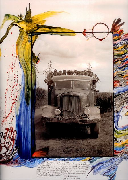 cristopherworthland:  From the pages of Peter Beard's Kenyan diaries.