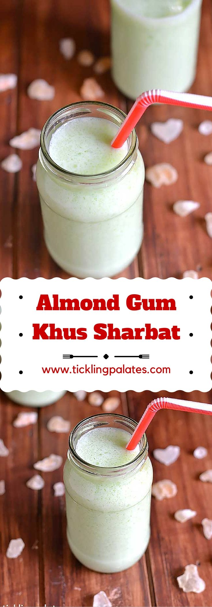Badam Pisin (Almond Gum) & Khus Sharbat recipe for the hot summer days as both of them being natural body coolers. #summer #drinks #glutenfree