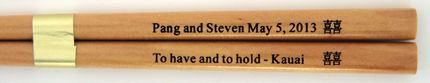 Personalized Chopstick with your message and logo at no extra charge. #Wedding #Favors & #Budget #Personalized #Asian #Chinese #Japanese #Korean