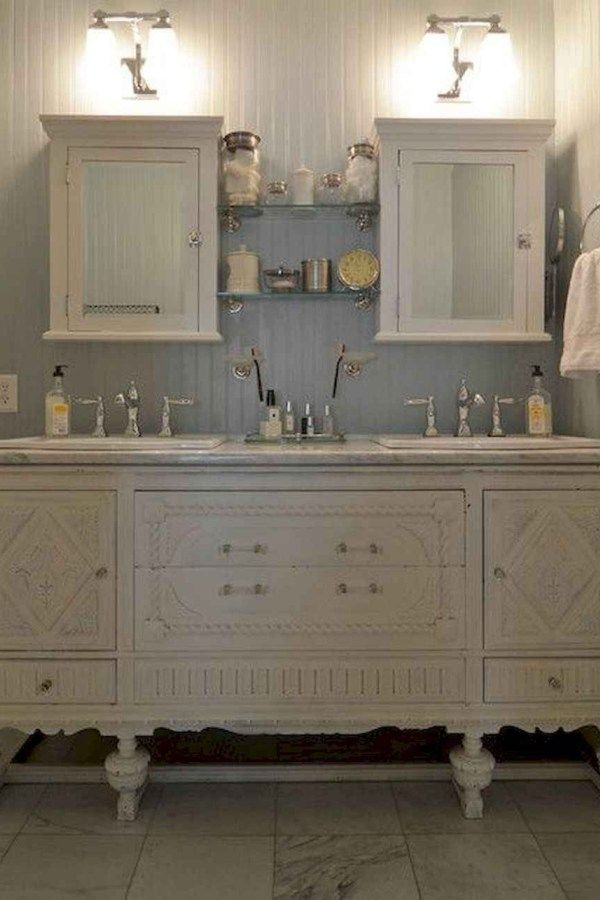 120 Amazing Farmhouse Bathroom Vanity Decor Ideas In 2020 Diy Vintage Decor Bathroom Vanity Remodel Bathroom Vanity Decor