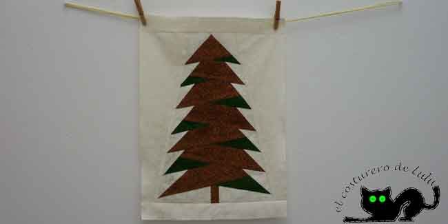 ¿Quiéres hacer un tapiz muy sencillo y perfecto para la navidad? Aprende cómo hacer este árbol tan bonito utilizando la técnica de paper piecing.
