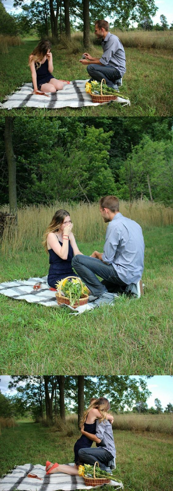 She had no idea that their anniversary photoshoot was all part of his marriage proposal plan!