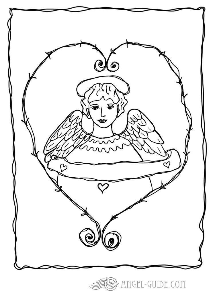 coloring pages cherubs - photo#36
