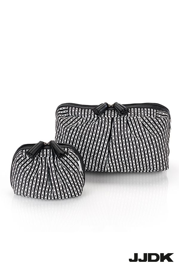 JJDK Plumoria, Black and white cosmetic bags