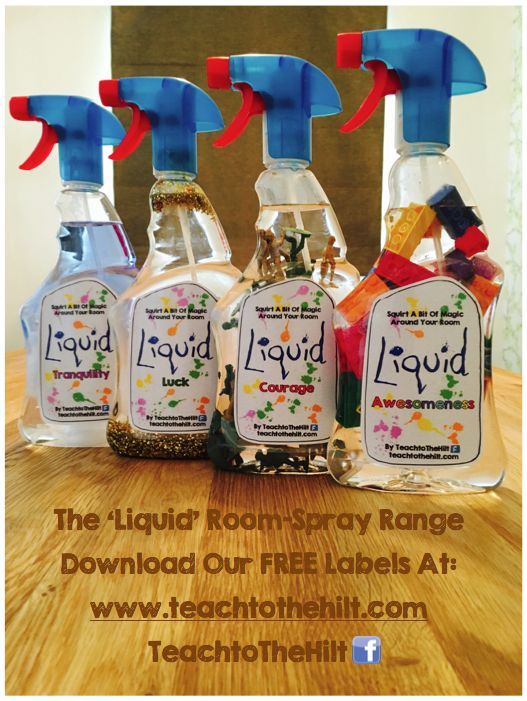 The full range of Liquid Sprays for classroom or home - A twist on the traditional 'Quiet Sprays' :)
