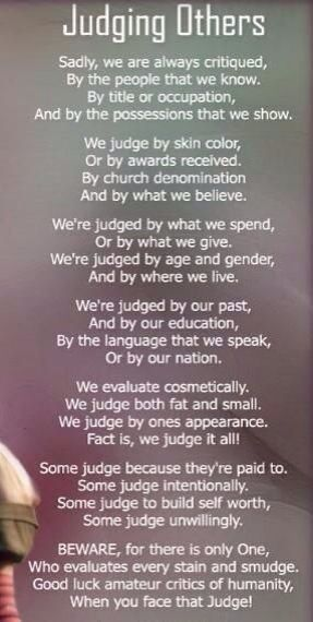 What to say to a judgmental person