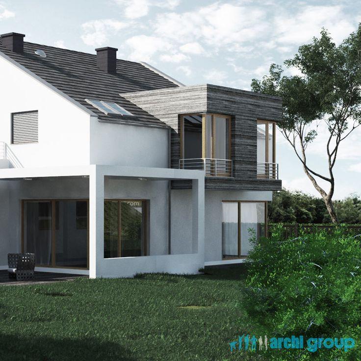 House facade design, POLAND - archi group. Projekt elewacji domu jednorodzinnego.